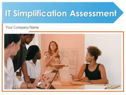 IT Simplification Assessment Strategy Alignment Business Roadmap Evaluating
