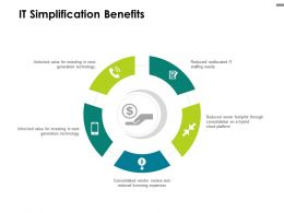 IT Simplification Benefits Expenses Ppt Powerpoint Presentation Styles Graphics Tutorials