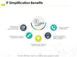 It Simplification Benefits Technology H30 Ppt Powerpoint Presentation Pictures Aids
