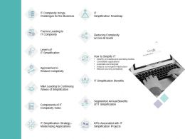 It Simplification Outline Factors Leading To It Complexity Ppt Powerpoint Presentation Gallery