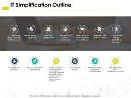 It Simplification Outline Roadmap H31 Ppt Powerpoint Presentation Pictures Brochure