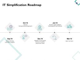 It Simplification Roadmap Years Timelines D130 Ppt Powerpoint Presentation Gallery Ideas