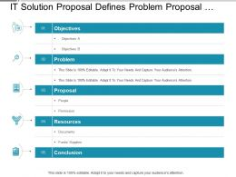 It Solution Proposal Defines Problem Proposal Resources And Conclusion