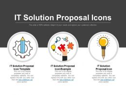 It Solution Proposal Icons Good Ppt Example