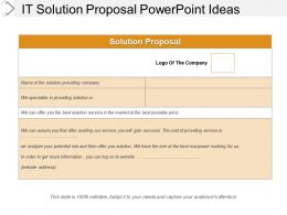 It Solution Proposal Powerpoint Ideas