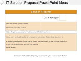 It Solution Proposal Powerpoint Ideas