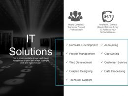It Solutions Ppt Sample Presentations