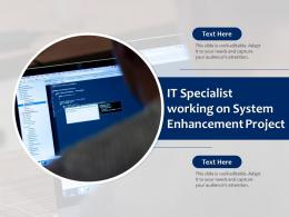 IT Specialist Working On System Enhancement Project