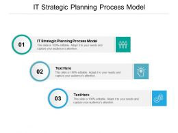 IT Strategic Planning Process Model Ppt Powerpoint Presentation Outline Structure Cpb