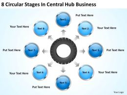 It Strategy Consulting Central Hub Business Powerpoint Templates Ppt Backgrounds For Slides 0523