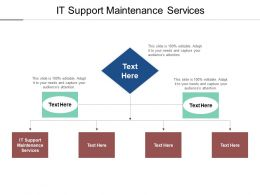 IT Support Maintenance Services Ppt Powerpoint Presentation Summary Example File Cpb