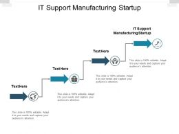 IT Support Manufacturing Startup Ppt Powerpoint Presentation Show Slideshow Cpb