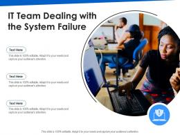 IT Team Dealing With The System Failure