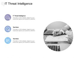 IT Threat Intelligence Ppt Powerpoint Presentation Ideas Images Cpb