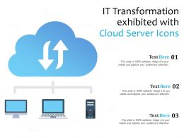 IT Transformation Exhibited With Cloud Server Icons