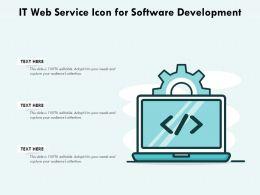 IT Web Service Icon For Software Development