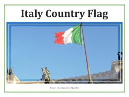 Italy Country Flag Mountain Individual Miniatures Surface Hoisted Vittoriano