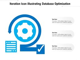 Iteration Icon Illustrating Database Optimization