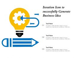 Iteration Icon To Successfully Generate Business Idea