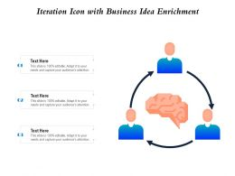 Iteration Icon With Business Idea Enrichment