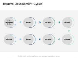 Iterative Development Cycles Ppt Powerpoint Presentation Infographic Template Cpb