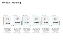 Iterative Planning Ppt Powerpoint Presentation Layouts Format Ideas Cpb