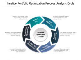 Iterative Portfolio Optimization Process Analysis Cycle