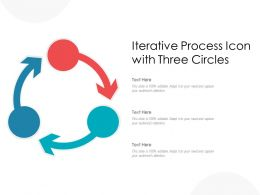 Iterative Process Icon With Three Circles