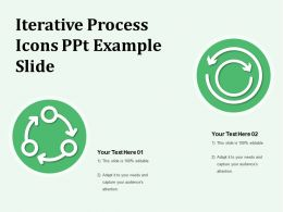Iterative Process Icons Ppt Example Slide