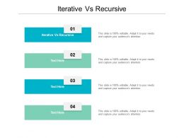 Iterative Vs Recursive Ppt Powerpoint Presentation Slides Icon Cpb