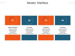 Iterator Interface Ppt Powerpoint Presentation Icon Slides Cpb