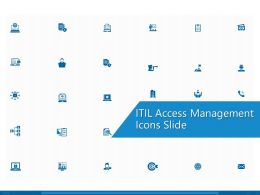 ITIL Access Management Icons Slide Ppt Powerpoint Presentation Show Icons