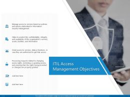 ITIL Access Management Objectives Ppt Powerpoint Presentation Infographics