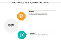 ITIL Access Management Practices Ppt Powerpoint Presentation Ideas Background Cpb