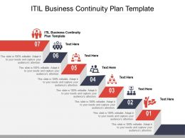 ITIL Business Continuity Plan Template Ppt Powerpoint Presentation Pictures Background Cpb