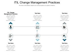 ITIL Change Management Practices Ppt Powerpoint Presentation Infographic Template Slide Cpb