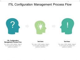 ITIL Configuration Management Process Flow Ppt Powerpoint Presentation Infographics Cpb