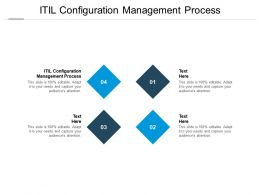 ITIL Configuration Management Process Ppt Powerpoint Presentation Outline Templates Cpb
