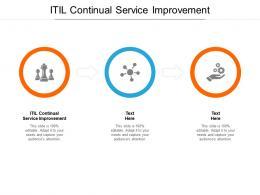 ITIL Continual Service Improvement Ppt Powerpoint Presentation Portfolio Designs Cpb