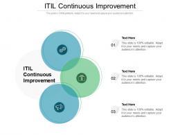 ITIL Continuous Improvement Ppt Powerpoint Presentation File Outline Cpb