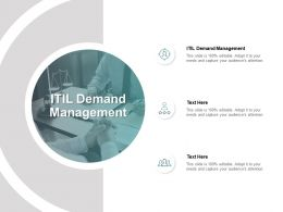 ITIL Demand Management Ppt Powerpoint Presentation Infographics Design Inspiration Cpb
