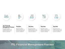 ITIL Financial Management Process Ppt Powerpoint Presentation Layouts Slide Portrait Cpb