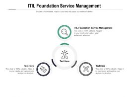 ITIL Foundation Service Management Ppt Powerpoint Presentation Portfolio Outline Cpb