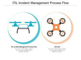 ITIL Incident Management Process Flow Ppt Powerpoint Presentation Slides Layouts Cpb
