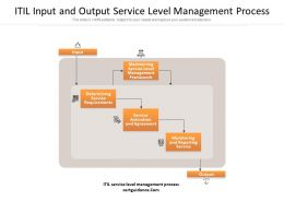 ITIL Input And Output Service Level Management Process