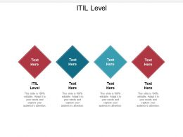 ITIL Level Ppt Powerpoint Presentation Portfolio Templates Cpb