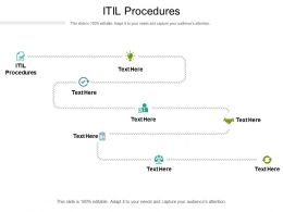 ITIL Procedures Ppt Powerpoint Presentation Portfolio Templates Cpb
