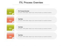 ITIL Process Overview Ppt Powerpoint Presentation Ideas Clipart Cpb