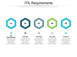 ITIL Requirements Ppt Powerpoint Presentation Infographics Pictures Cpb