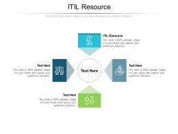 ITIL Resource Ppt Powerpoint Presentation File Graphics Cpb